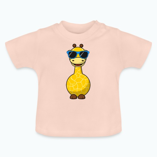 Gigi Giraffe with sunglasses - Appelsin - Baby-T-shirt