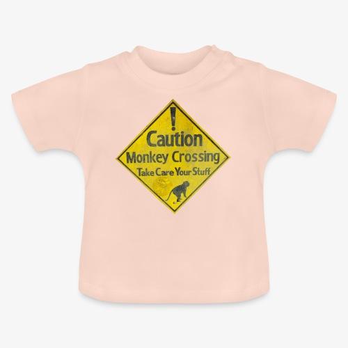 Caution Monkey Crossing - Baby T-Shirt