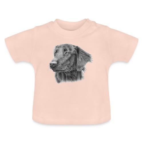 flatcoated retriever bw - Baby T-shirt