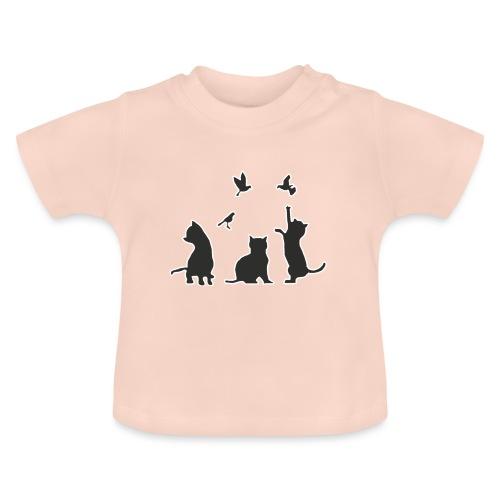 Gatos & Pájaros - Camiseta bebé
