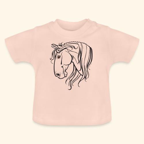 Cheval espagnol (noir) - T-shirt Bébé