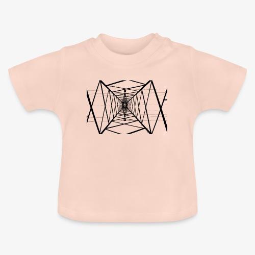 Quermast V2 Schwarz - Baby T-Shirt