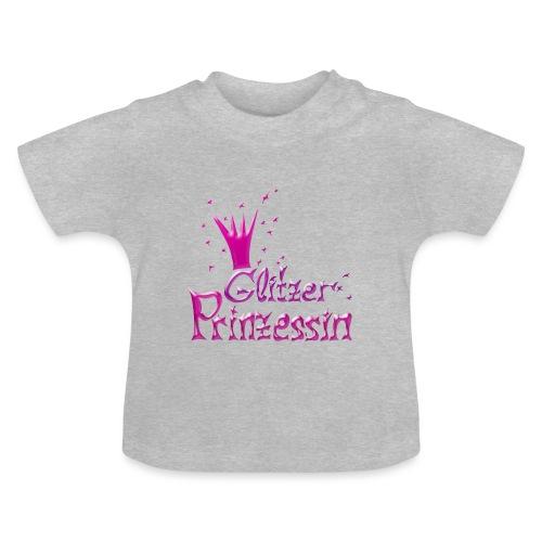 Rosa Glitzer Prinzessin - Baby T-Shirt