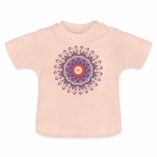 Orange mandala - Baby T-shirt