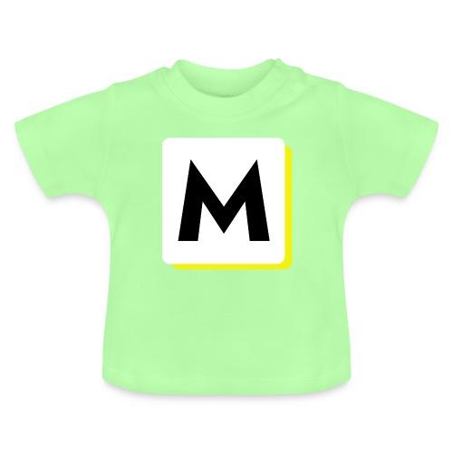 stor logo hvid - Baby T-shirt