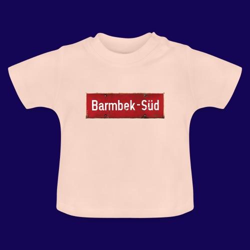 HAMBURG Barmbek Sued Ortsschild rot antik - Baby T-Shirt