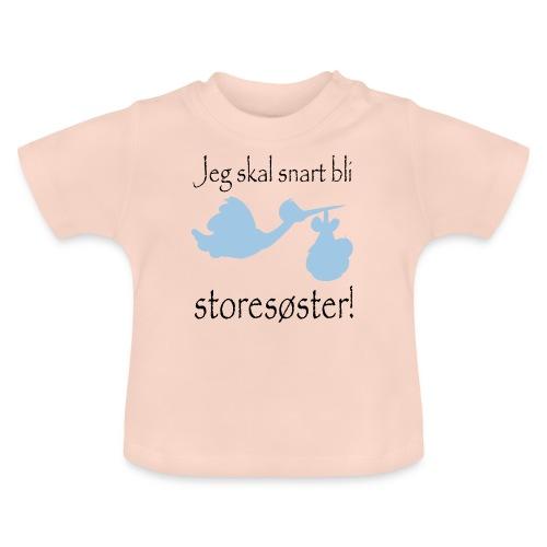 jeg skal bli storesøster - Baby-T-skjorte