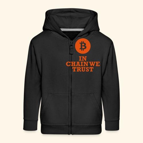 Bitcoin: In chain we trust - Kinder Premium Kapuzenjacke