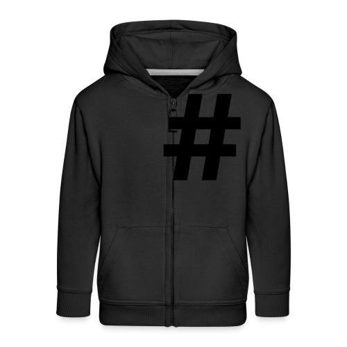 #Hashtag - Kinderen Premium jas met capuchon