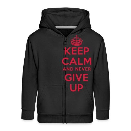 keep calm and never give up - Kinder Premium Kapuzenjacke