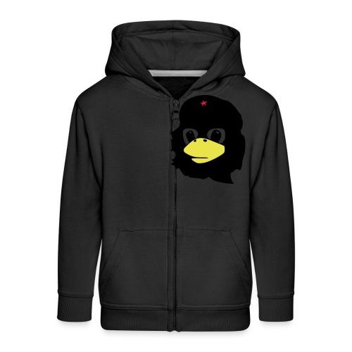 Tux Linux Che Guevara - Rozpinana bluza dziecięca z kapturem Premium