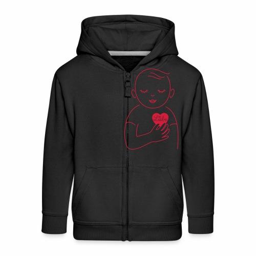 Liebe im Herzen - Kinder Premium Kapuzenjacke