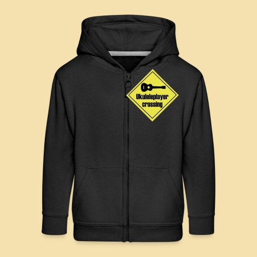 Uke player crossing - Kinder Premium Kapuzenjacke