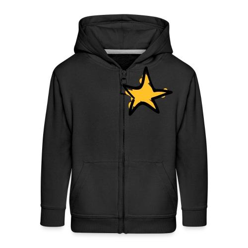 Star Line Drawing Pixellamb - Kinder Premium Kapuzenjacke