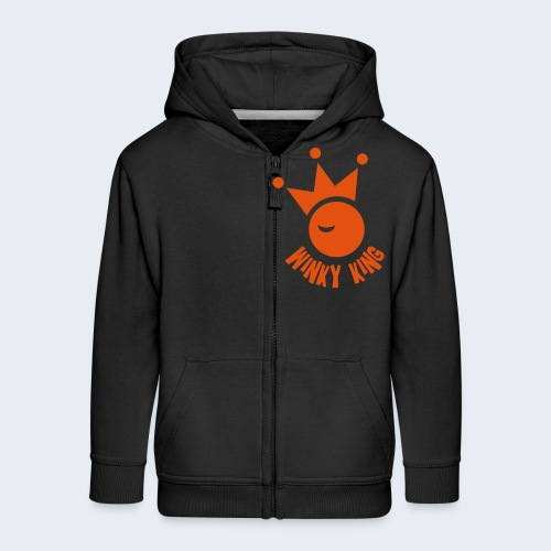 Winky King Logo - Kinderen Premium jas met capuchon