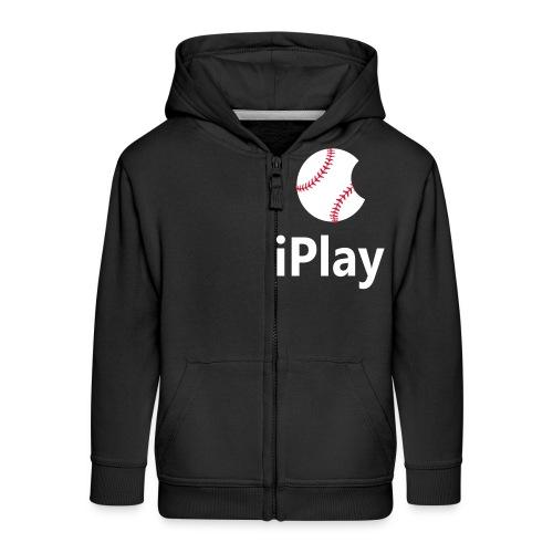 Baseball Logo iPlay - Kids' Premium Zip Hoodie