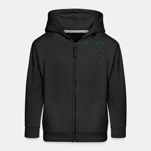 Snowflake Starglitter - Kids' Premium Zip Hoodie