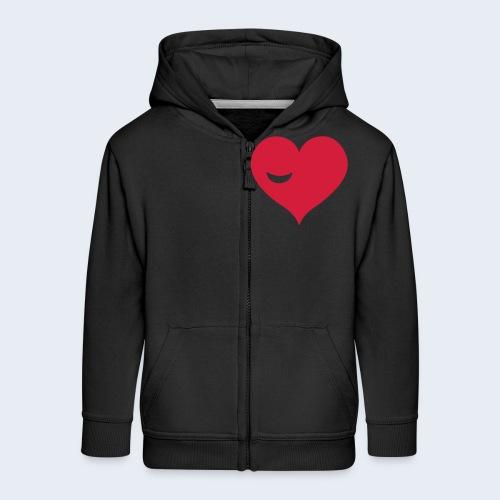 Winky Heart - Kinderen Premium jas met capuchon