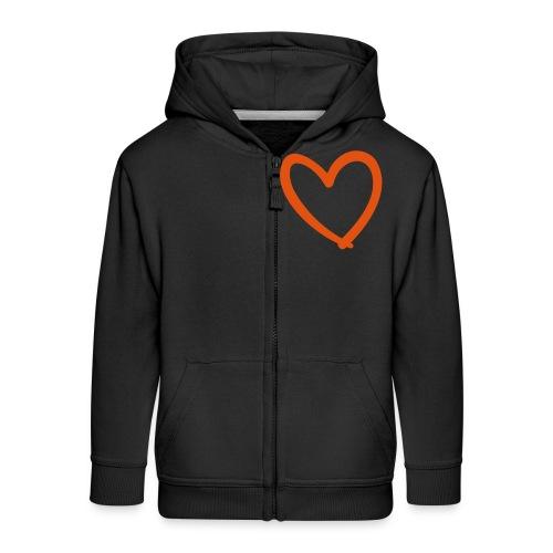 Heart Lines Pixellamb - Kinder Premium Kapuzenjacke