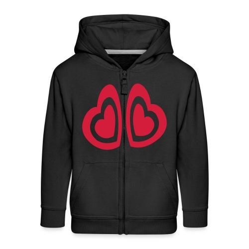 valentine's day hearts red - Kids' Premium Zip Hoodie