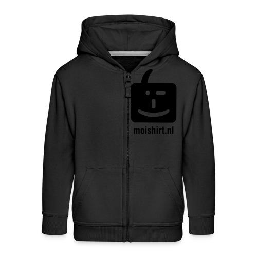 moi shirt back - Kinderen Premium jas met capuchon