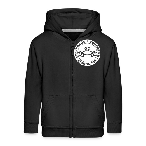 Touched by His Noodly Appendage - Kids' Premium Zip Hoodie