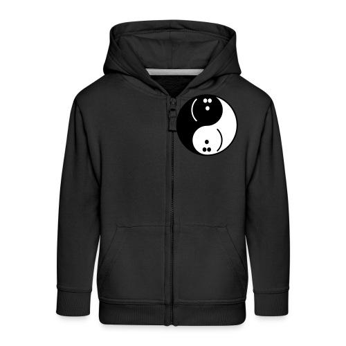 Bowling Yin-Yang - Kids' Premium Zip Hoodie