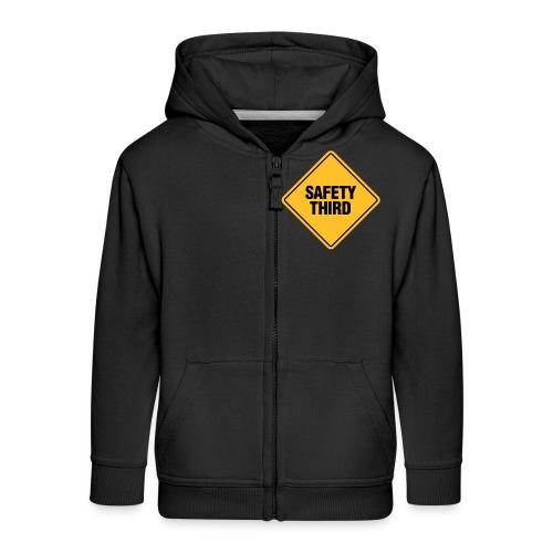 SAFETY THIRD - Kids' Premium Zip Hoodie