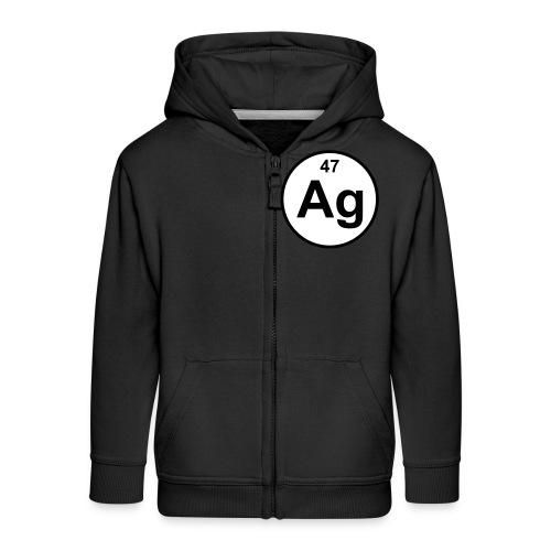 Argentum (Ag) (element 47) - Kids' Premium Zip Hoodie