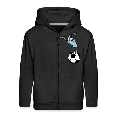 Kobold mit Fußball - Kids' Premium Zip Hoodie