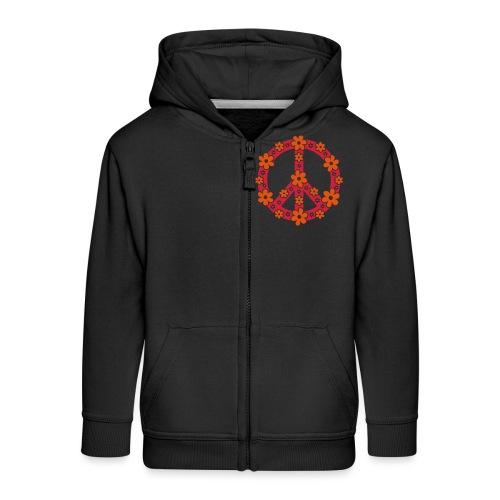 Peace Frieden Symbol Hippie Sommer Freiheit Liebe - Kinder Premium Kapuzenjacke