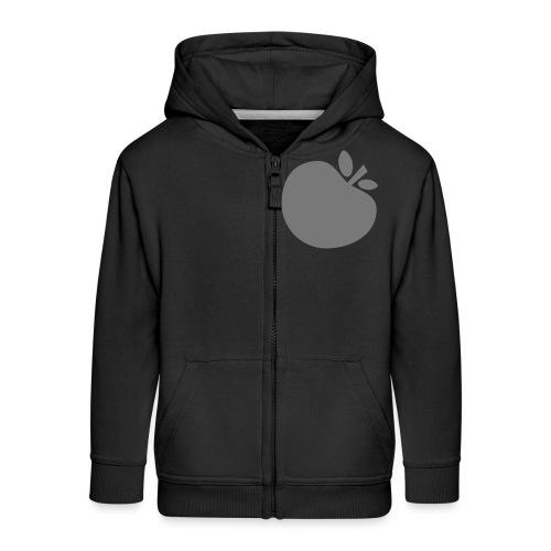 Apple - Felpa con zip Premium per bambini