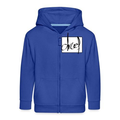 Droef.Gent logo zwart - Kinderen Premium jas met capuchon