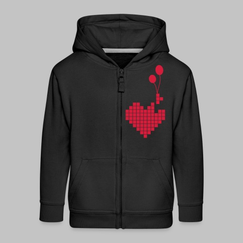 heart and balloons - Kids' Premium Zip Hoodie