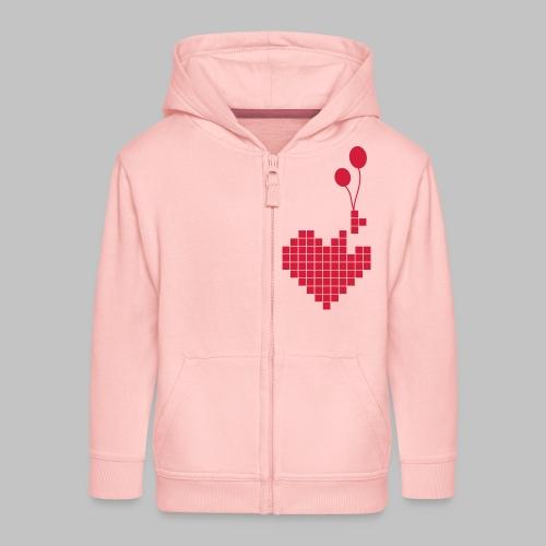 heart and balloons - Kids' Premium Zip Hoodie
