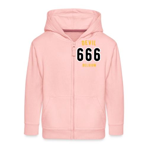 666 devil Belgium - Veste à capuche Premium Enfant