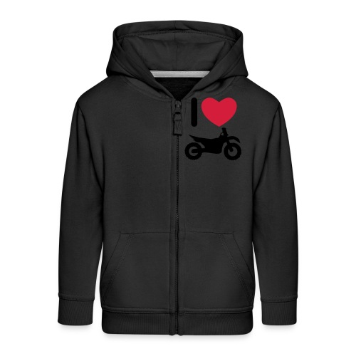 I love biking - Kinder Premium Kapuzenjacke