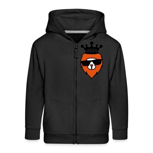 Oranje Leeuw - Kinderen Premium jas met capuchon