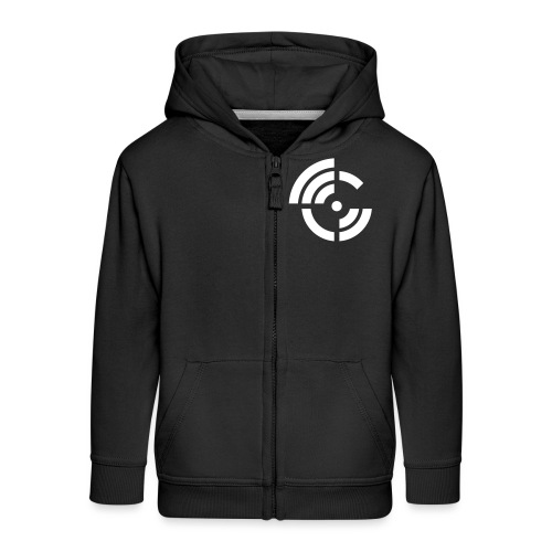electroradio.fm logo - Kids' Premium Zip Hoodie