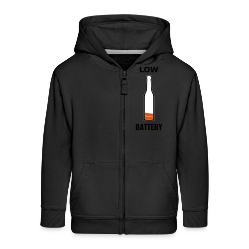 Beer Low Battery - Veste à capuche Premium Enfant