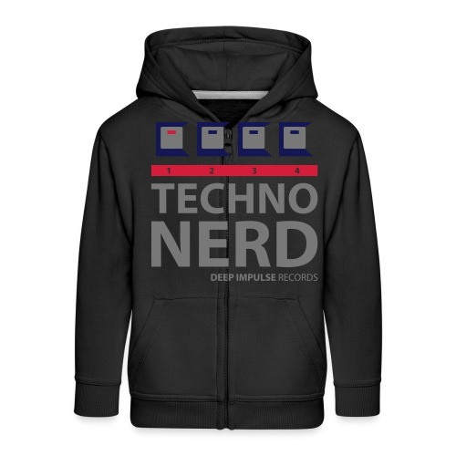 Techno Nerd - Kids' Premium Zip Hoodie