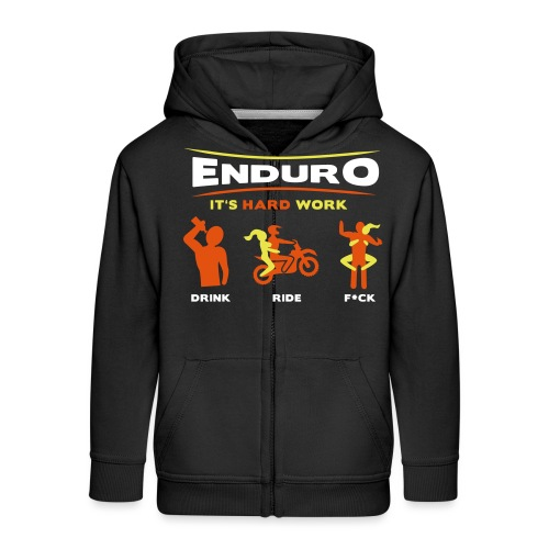 Enduro - It's hard work BlackShirt - Kinder Premium Kapuzenjacke