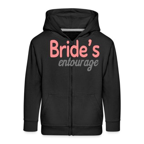 Bride's entourage - Kids' Premium Zip Hoodie