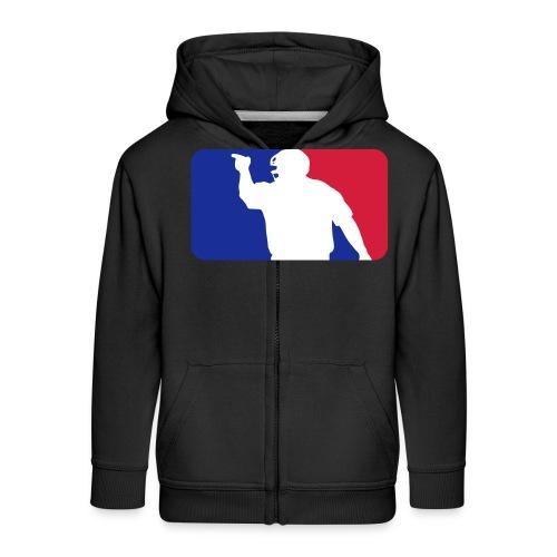 Baseball Umpire Logo - Kids' Premium Zip Hoodie