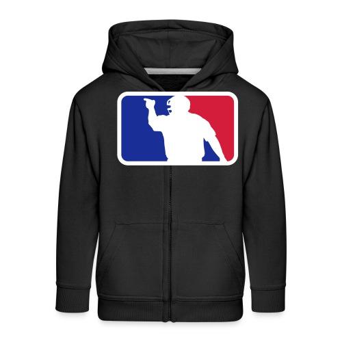 Baseball Umpire Logo - Kids' Premium Hooded Jacket
