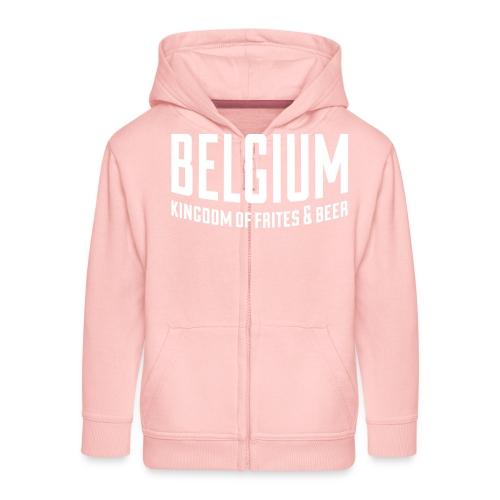 Belgium kingdom of frites & beer - Veste à capuche Premium Enfant
