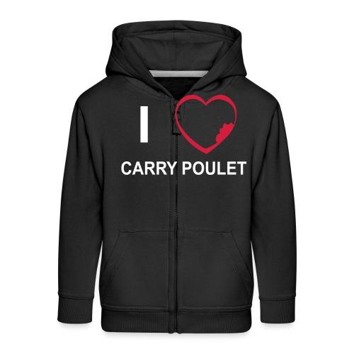 i love CARRY POULET - Veste à capuche Premium Enfant