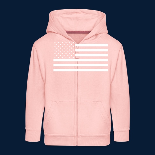 Stars and Stripes White - Kinder Premium Kapuzenjacke