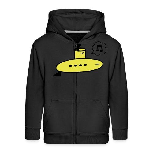 Singing Yellow Submarine - Kids' Premium Zip Hoodie