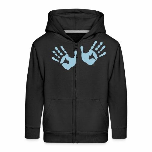 Hands - Hände - Kinder Premium Kapuzenjacke